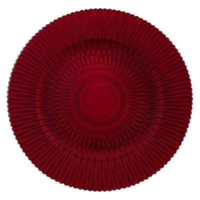Marbella Red Glass Charger