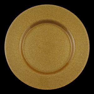 Reflex Gold Glitter Glass Charger
