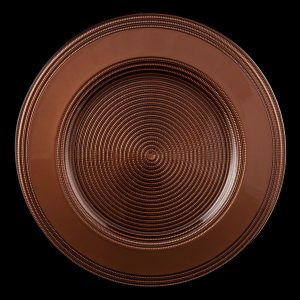 Rope Brown Glass Charger