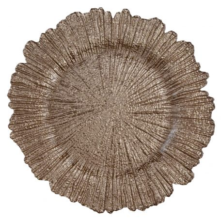 Sea Sponge Mink Glass Charger