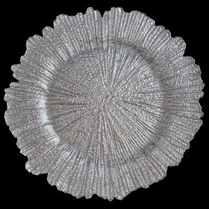 Sea Sponge Silver Glass Charger