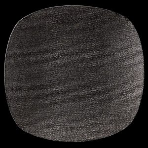Seta Square Black Glitter Glass Charger