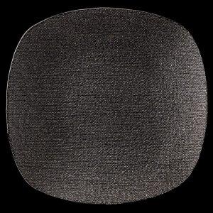 Seta Square Black Glitter Glass Charger