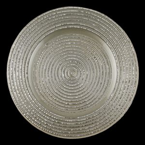 Starlight Silver Pearl Glass Charger