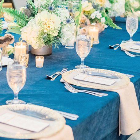 Artic Velvet Tablescape