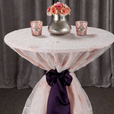 Blush Olivia over Blush Alexis Table Linen