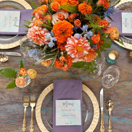 Chrysocolla Marble Tablescape