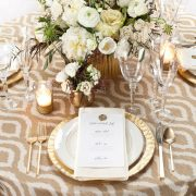 Gilded Jakarta Table Linen Rental for Events