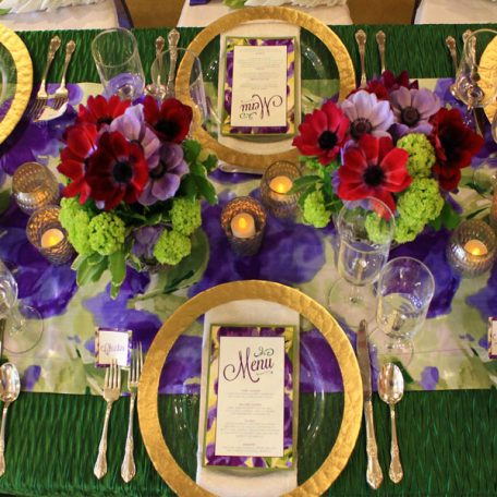 Grass Rhythm Table Linen With Giverny Table Runner