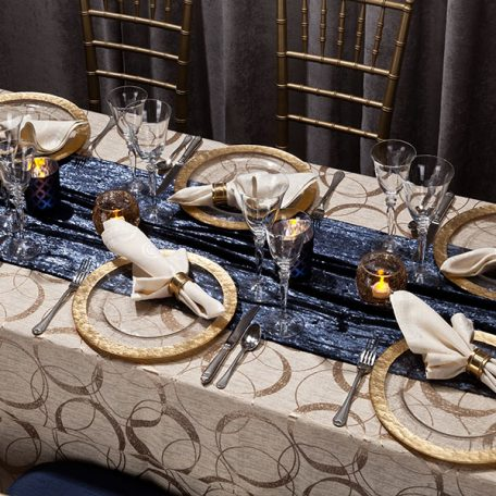 Champagne Halo Tablescape