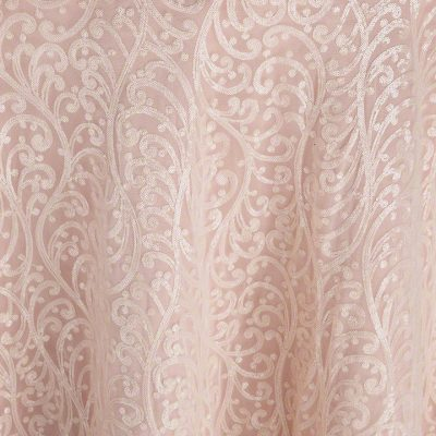 Ivory Filigree over Salmon Faille
