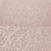 Ivory Filigree Table Runner over Salmon Faille