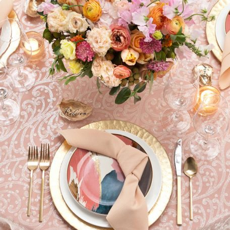 Ivory Filigree Tablescape