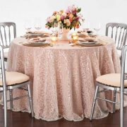 Ivory Filigree Table Linen Rental for Events