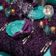 Glass Table Charger Rentals. Linen Rental, Chair back rental
