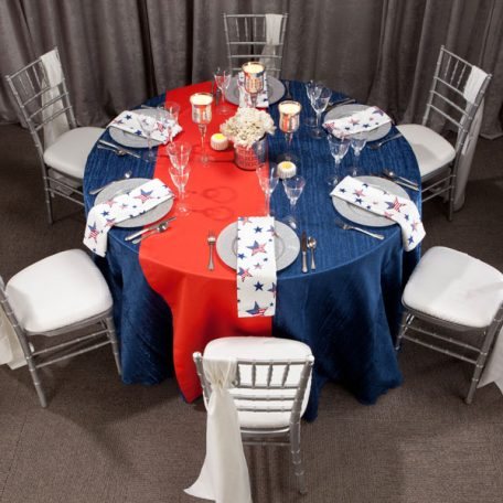 Lapis Contour Tablescape with Betsy Shantung Dinner Napkin