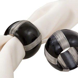 Black Cotter Napkin Ring