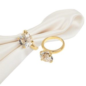 Gold Diamond Napkin Ring