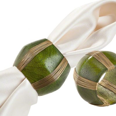 Green Cotter Napkin Ring