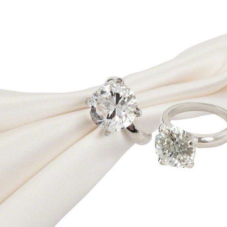 Silver Diamond Napkin Ring
