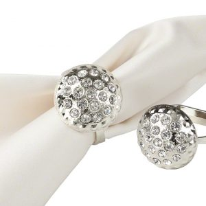 Silver Dome Napkin Ring