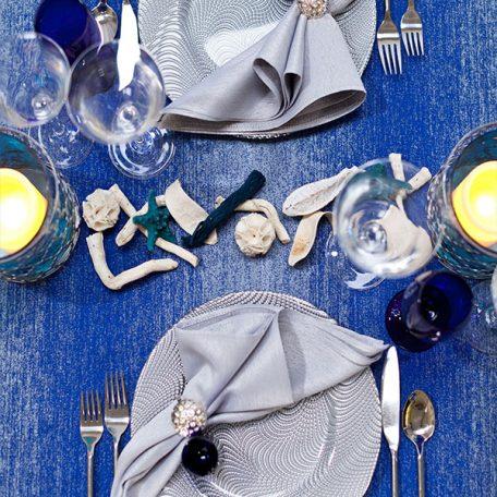 Sapphire Ombre Tablescape