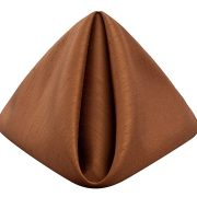 RChestnut Shantung Dinner Napkin for any type of special event.