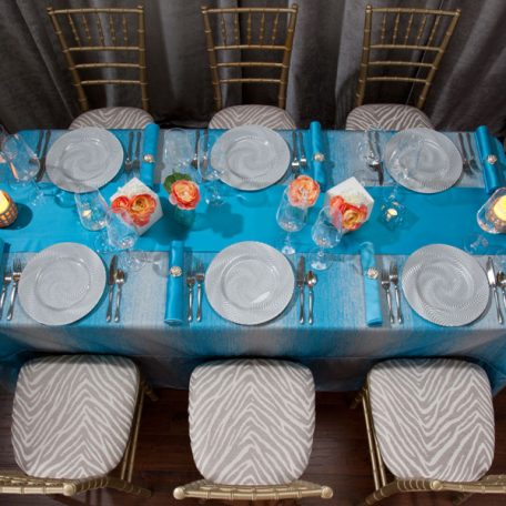 Turquoise Ombre Tablescape