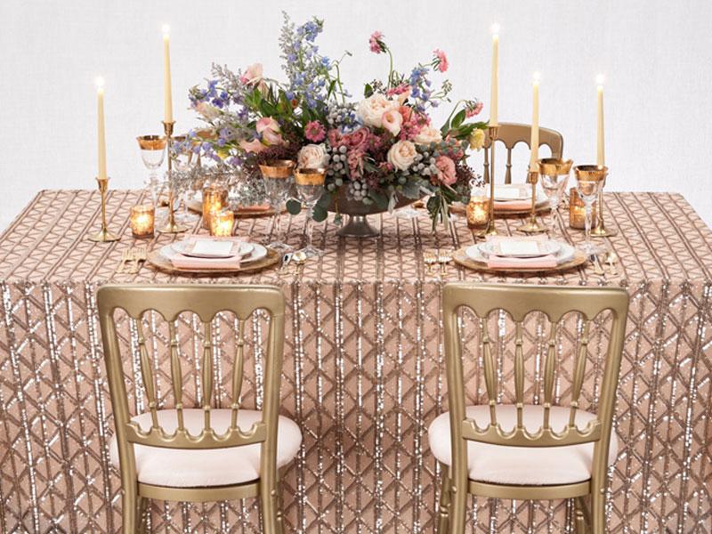 Zelda Sequins Table Linen Rental Weddings Amp Events