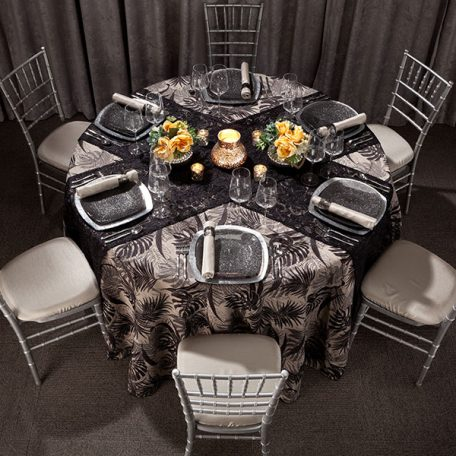 Black Calypso Tablescape