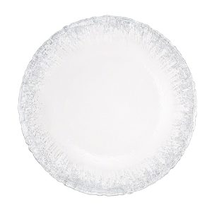 Glass Silver Frost Food Safe Charger