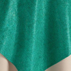 Green Jade Santa Fe Table Overlay Rental for Events