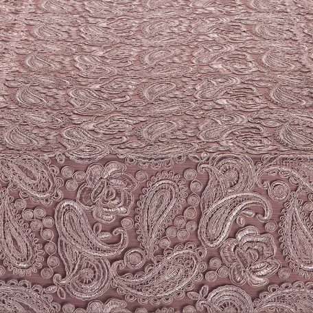 Mariana Ballet Table Runner shown over Rosewood Faille