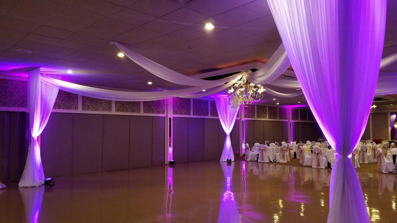 Rent Draping and LED Uplighting in Michigan for Weddings and Special Events.