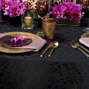 Part of the Gold Kroft Kehoe Collection, from our Designer Series, this deep black and elegant Onyx Digital table linen serves as the perfect foundation.