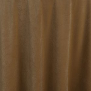 Create drama and excitement for any event with Caramel Velvet table linen. This delicate caramel color becomes dramatic with the opalescent plush fabric.