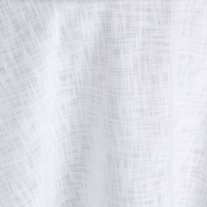 Restrained and ultra-modern, the white jacquard weave of this Steel Brimble table linen drapes effortlessly and has a sense of low-key luxury. Rent it here.