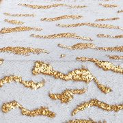 Complete stunning tablescapes with Gold Sequin Mermaid table cuffs, reversible sequins linen design in gold. Shop our selection of linen here.