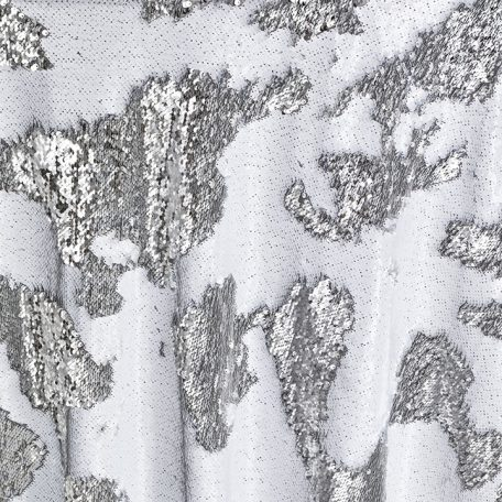 Complete stunning tablescapes with Silver Sequin Mermaid table runners, reversible sequins linen designs in gorgeous silver. Perfect for any event!