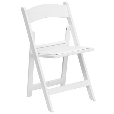 White Folding Resin Garden Chair for Weddings, Graduations, Ceremonies and Parties