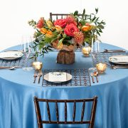 The appeal of Fabulous Events' metal Placemats is the unexpected drama of each unique shape, pattern and finish. Our Bronze Deco Metal Placemat, with its traditional grid pattern, has a powerful presence that commands attention and will complement rather than overpower other event table choices. Rent it here today.