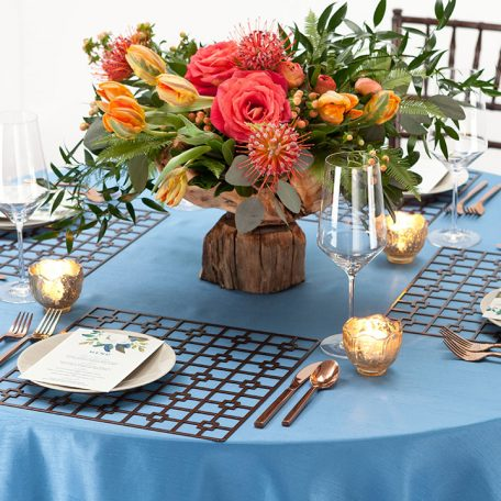 Bronze Deco Metal Placemat Charger Rental for Events