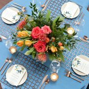 The appeal of Fabulous Events' metal Placemats is the unexpected drama of each unique shape, pattern and finish. The Bronze Deco Metal Placemat, with its traditional grid pattern, has a powerful presence that commands attention and will complement rather than overpower other event table choices. Rent them here today.