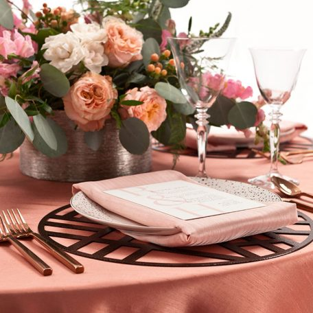 Bronze Edge Metal Placemat Charger Rental