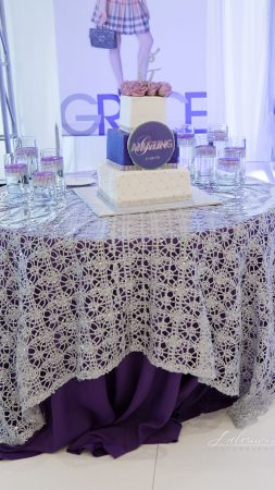 Rent our Silver Bling table overlay for your wedding or special event.