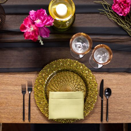 Black Graceful Table Drape