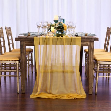 Daffodil Yellow Graceful Table Drape