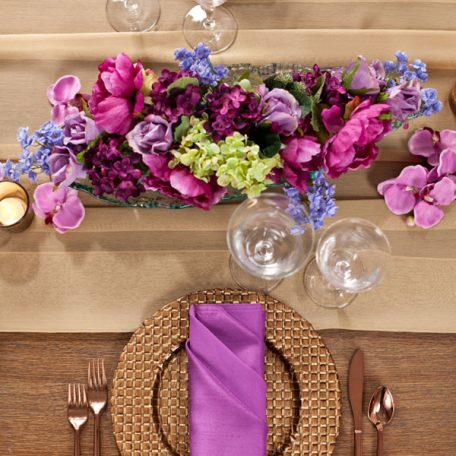 Gold Graceful Table Drape