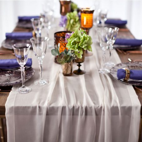 Ivory Graceful Table Drape