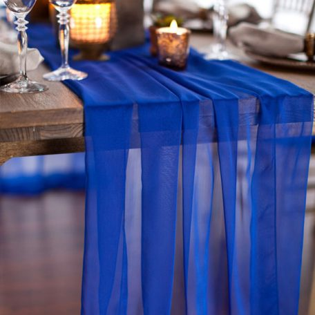 Royal Blue Graceful Table Drape